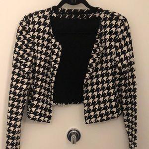 Houndstooth Crop top blazer